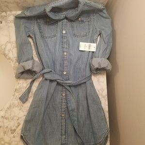GAP XS Denim Shirt Dress